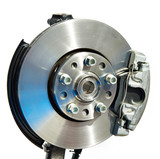 Brake disc and support with pads