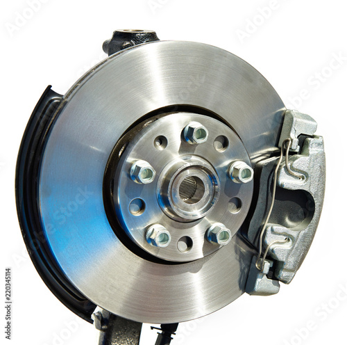 Brake disc and support with pads - 220345114