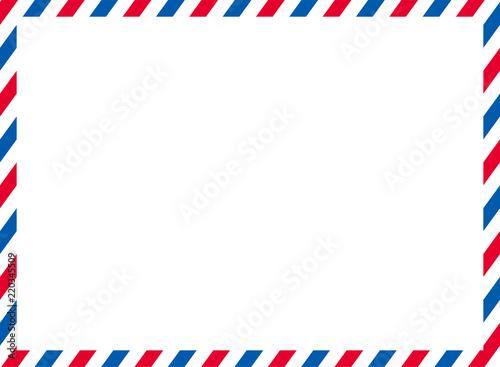 エアメールのイラスト背景 ベクターデータトリコロールカラーairmail