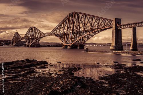 Forth Road Bridge near Edinburgh, Scotland