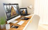 architect studio website responsive concept on devices - 220359730