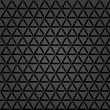 Seamless dark ornament. Fine pattern with 3D triangular elements, shadow and highlight - 220369161