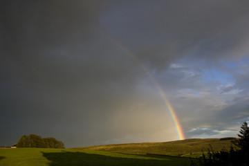 rainbow & Stormy sky