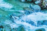 豊富な水が流れる山奥の川 - 220397721