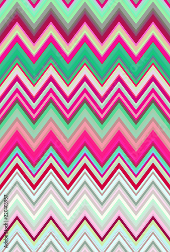 Disco dance party. Chevron zigzag pattern abstract art background trends - 220403957
