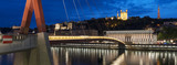 Famous view of Lyon by night. - 220429543