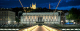 Night view of Lyon from footbridge - 220429552