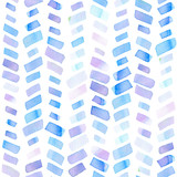 Seamless pattern with abstract geometric figures. Watercolor stripes like a trace of the wheel, blue and violet colors. - 220433700