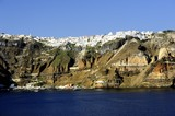 White houses clinging to the cliff tops - 220438506