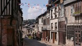Half timbered houses in Cormeilles, Normandy France - 220439927