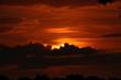 Oranje zonsondergang