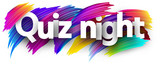 Quiz night poster with colorful brush strokes. - 220448306