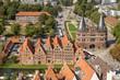 Leinwanddruck Bild - Aerial view of Lübeck
