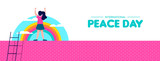 Peace day web banner for world children freedom - 220455500
