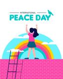 Peace day illustration for world children freedom - 220455506