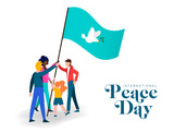 World Peace day diverse friend group teamwork - 220455528
