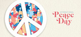 International Peace Day banner for people freedom - 220455729