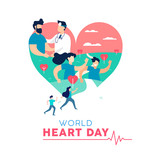 Heart Day concept of healthy people lifestyle - 220455779