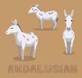 Donkey Andalusian Cartoon Vector Illustration