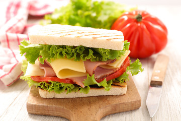 sandwich with cheese and tomato © M.studio