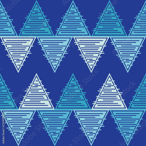 Fototapeta Seamless abstract geometric pattern. The texture of the triangles. Mosaic texture. Textile rapport.