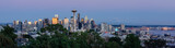 Panorama of Seattle at sunset