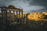 Ancient Rome in Italy, Colloseum and Roman forum - 220507759