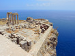The ruins of an ancient castle. Lindos, Rhodes Island