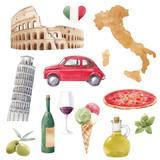 Watercolor italian set - 220518793