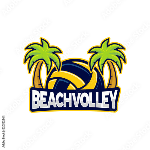 Beach Volley Logo Vector