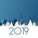 2019 - Bonne année - happy new year - clock - horloge - compte à rebours - countdown - 220548368