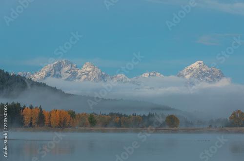 Teton Autumn Sunrise Reflection
