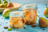 Preparation for fresh pickled pears in summer - 220553128