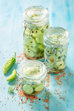 Homemade and tasty canned cucumber in summer - 220553185