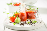 Homemade and tasty ketchup made of tomatoes - 220553700