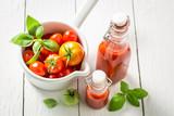 Natural and healthy passata made of tomatoes - 220553728