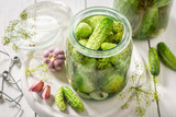 Homemade and tasty pickled cucumber in summer - 220553775