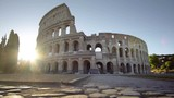 Colosseum in Rome and morning sun, Italy - 220562737
