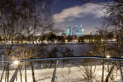 """Fototapeta samoprzylepna The Moscow International Business Center (MIBC), also known as """"Moscow City"""" is a commercial district in central Moscow, Russia"""