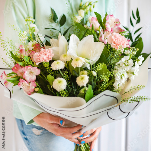 nice bouquet in the hands - 220578561