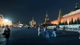 Night hyper lapse of Red Square, Moscow - 220578959