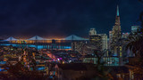 San Francisco night view from Russian Hill