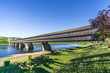 The longest covered bridge in the World is over Saint John river in Hartland - Canada