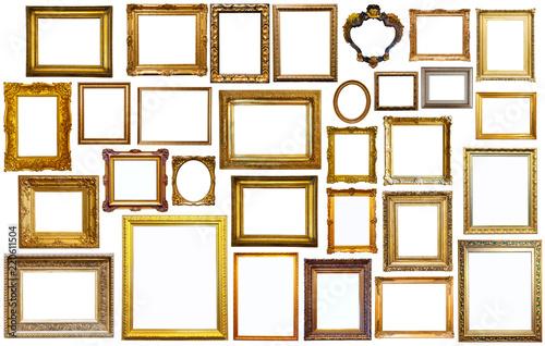 set of golden art frames