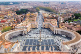 Rome skyline, Italy. Saint Peters Square in the Vatican, Rome, Italy.