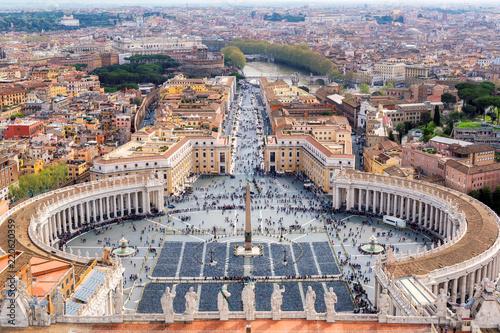 Rzym skyline, Włochy. Plac Świętego Piotra w Watykanie, Rzym, Włochy.