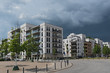 Residential houses in the new residential and commercial district Europaviertel of Frankfurt am Main, Germany