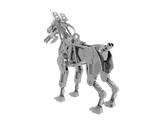 Silber glänzender Roboterhund - 220632588