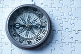 Vintage compass in business concept - strategy - 220636572