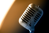 Retro style microphone in party or concert - 220636702